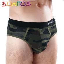 7 sztuk dużo majtki bielizna męska męskie kalesony bawełniane bokserki Calecon Homme bielizna dla człowieka figi Sexy Gay Jockstrap Slips