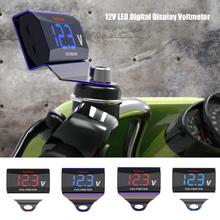 12V-24V Car Motorcycle LED DC Digital Display Voltmeter Thermometer Waterproof Meter 2019 New