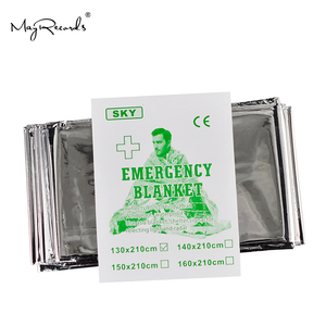 Image 3 - Free Shipping Cold proof Military First Aid Emergency Blanket Survival Rescue Curtain Outdoor Life saving Tent