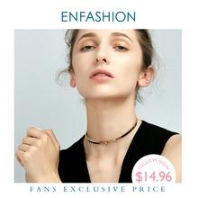 Enfashion Safety Chain Chokers, ожерелья, подвески золотого цвета, ожерелье из нержавеющей стали, колье, ожерелье для женщин, ювелирные изделия, колье