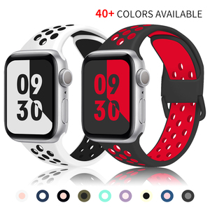 sports silicone watch strap compatible for apple watch band 6/SE 42mm 38mm 40mm 44mm rubber bracelet correa iwatch series 5 4 32