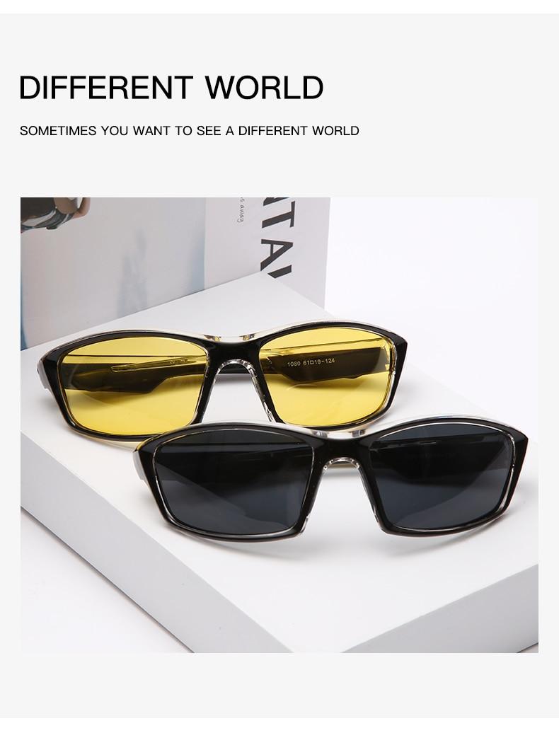 Yameize антибликовые очки ночного видения для вождения мужские