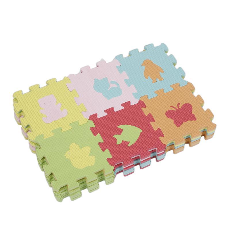 16*16cm EVA Foam Puzzle/Baby Play Mat Foam Play DIY Puzzle Mat 36pcs Lot Interlocking Exercise Tiles Each Animal Printing