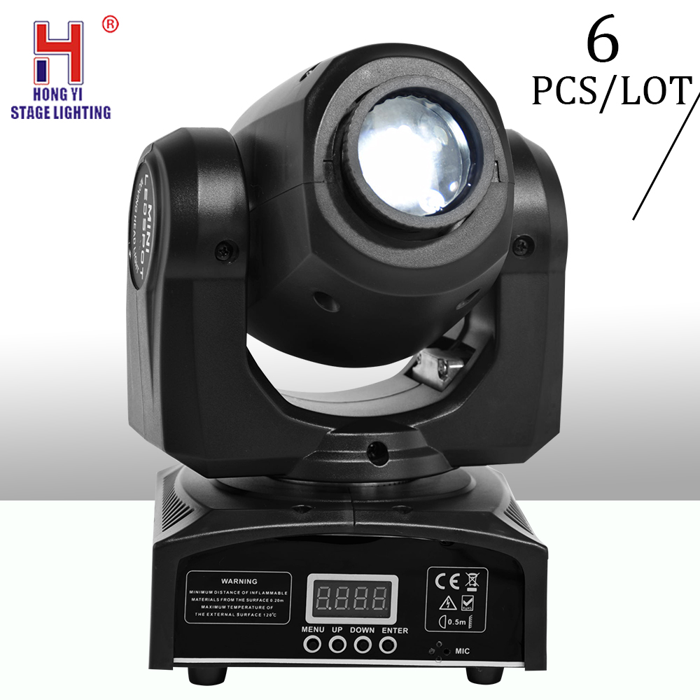 Mini led moving head light 30W with gobo spot light dmx512 stage light for for dj party disco nightclub (6pcs/lot)|Stage Lighting Effect| |  - title=