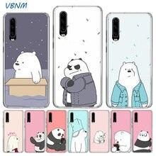 Cute Cartoon We Bare Bears Panda Soft TPU Silicone Case For Huawei P30 P20 Mate 20 10 Pro P10 lite P Smart  Z Plus + 2019 2018