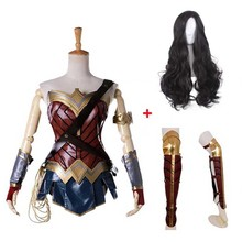 Wonder Woman Costume Comic Superhero Cosplay Outfit Sull of Suit Carnival Show Halloween Costume for Women Adult Size