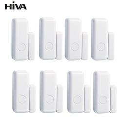 Беспроводной магнитные дверные и оконные Сенсор EV1527 режим кодирования RF 433 МГц для домашняя система охранной сигнализации домашняя охранна...