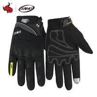 Suomie gants Moto hommes gants de Motocross doigt complet Guantes Gant Moto gants équitation Moto été vert noir Orange