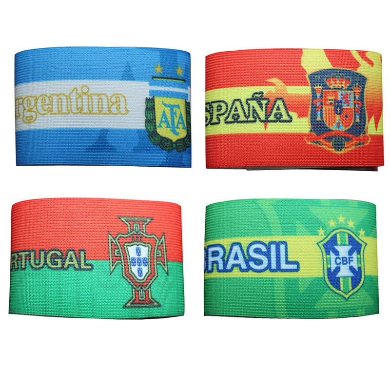 2020 European Cup World Cup Brazil Argentina Germany Real Madrid Arsenal Skipper's Armband Shoulder Emblem Velcro