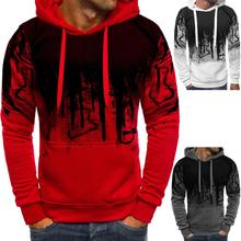 Hooded Mens Camouflage Hoodies Long Sleeve Drawstring Sweatshirt Top 2020 Autumn Casual Solid Hoodie Men Polluver Zipper Blouse