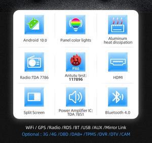 Image 4 - بوسيون 1 Din 9 PX6 Universal أندرويد 10.0 4GB + 64GB IPS راديو السيارة ستيريو لتحديد المواقع والملاحة واي فاي 1024*600 مع IPS DSP كاميرا مجانية