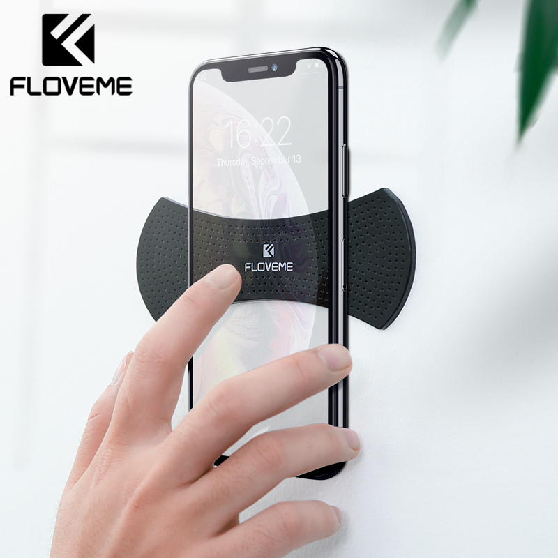 FLOVEME Strong Adsorption Car Phone Holder For IPhone Samsung Multi Function Wall Desk Phone Holder Stand For Phone Universal