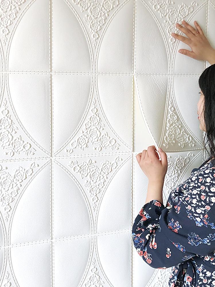 3D самоклеющиеся наклейки на стену из пенопласта мягкая сумка Персонализированная декоративная стена ремонт анти-столкновения звук insulation-74