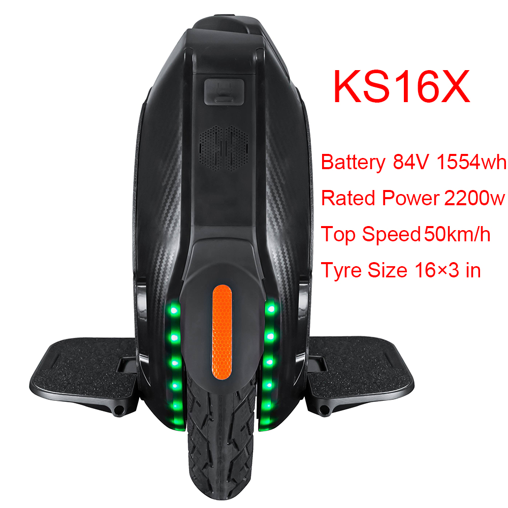 KS16X 1554wh Electric Unicycle 2200W Motor KS-16X