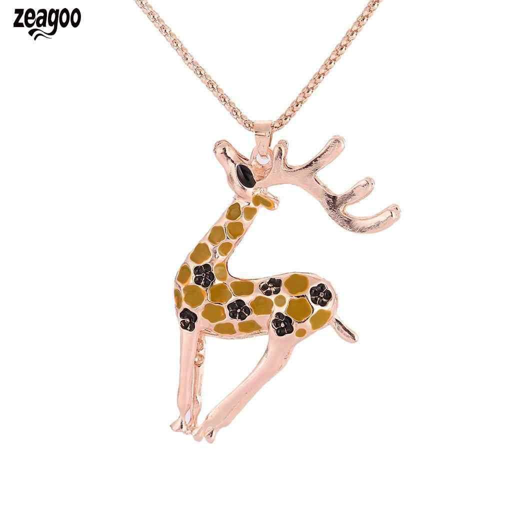 Women Fashion Christmas Reindeer Pendent Necklace Sweater Long Link Bar, Casual, Club, Street,Christmas Chain