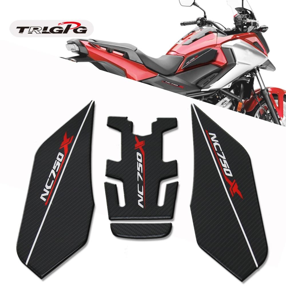NC750X Fiber Texture Motorcycle Fuel Tank Pad Cap Decals Gas Cap Sticker For HONDA NC750 X NC 700X 2014-2019 2018 2017 2016 2015