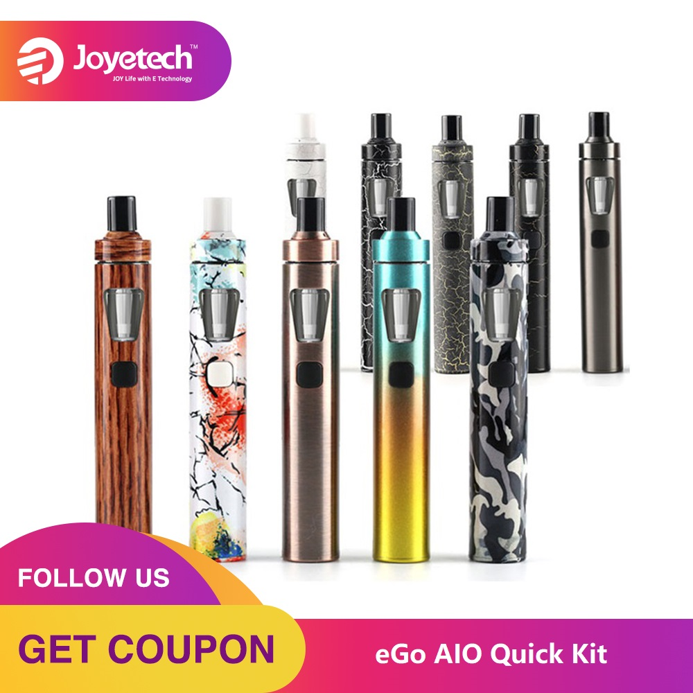 100% Original Joyetech EGo AIO Quick Kit 1500mAh Battery 2ml Capacity All-in-One Kit Electronic Cigarette Vaporizer Vape Kit