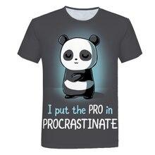 2020 mignon 3D Animal Panda t-shirt enfants vêtements été court imprimé drôle dessin animé t-shirt garçons Streetwear adolescent enfants hauts