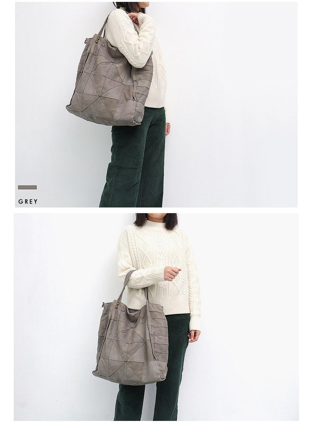 Sc splice vintage couro das mulheres bolsas
