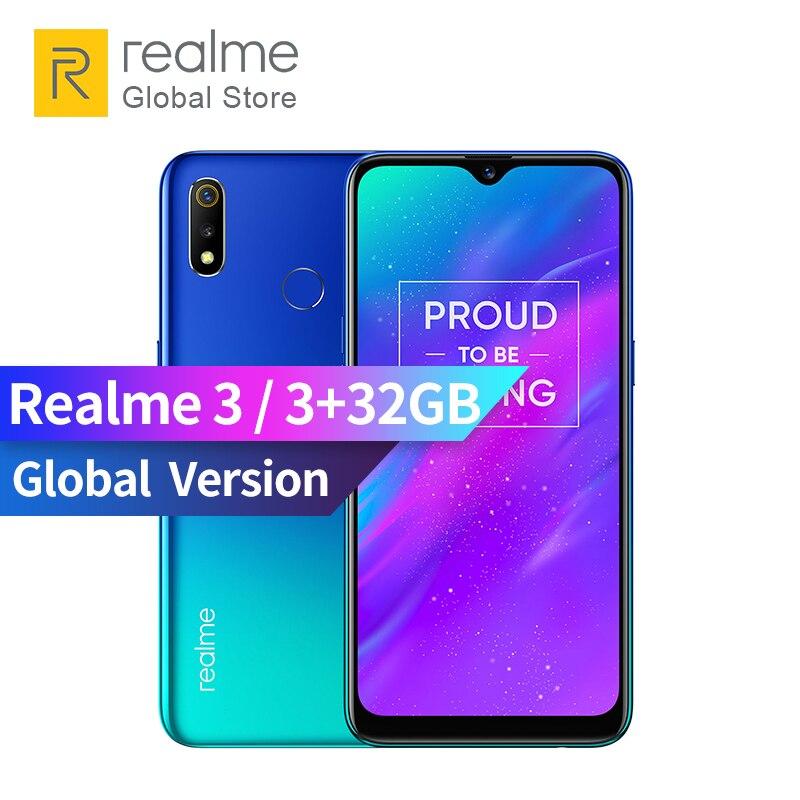 Global Version OPPO realme 3 3GB RAM 32GB ROM 6.2 inch Smart Moblie Phone 4230mAh Battery 13+2MP Dual Camera realme3 Smartphone