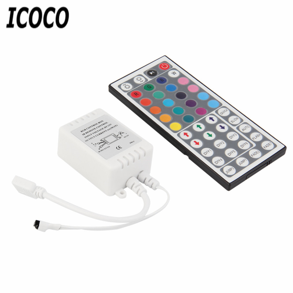 ICOCO Mini 44 Keys IR Remote Control Controller For RGB SMD 5050 3528 LED Light Strip Stock Offer