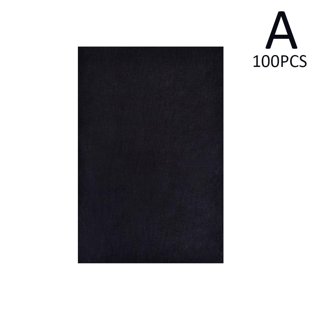 100Pcs/Set Black A4 Copy Carbon Paper Painting Tracing Painting Accessories Graphite Reusable Legible Painting Tracing Pape B9Q1