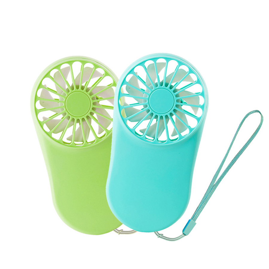 Colorful USB Portable Rechargeable Electric Fan Hang Rope Ventilator Mini Small Cool Silent