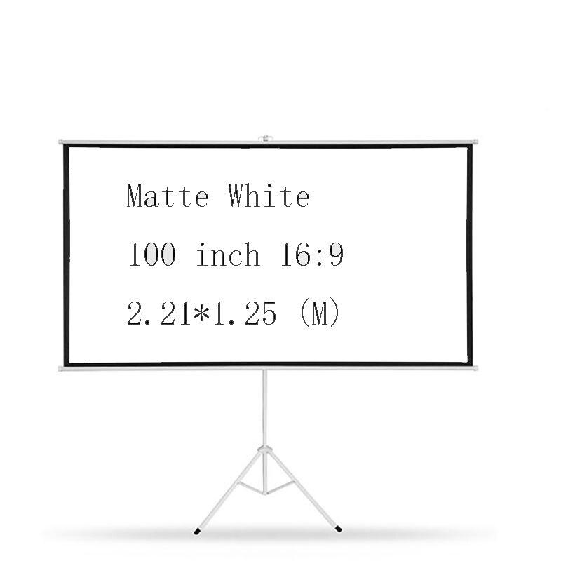 Thinyou 100 polegada 16:9 tripé portátil tela do projetor hd piso suporte dobrável suporte fosco branco ou escola em casa