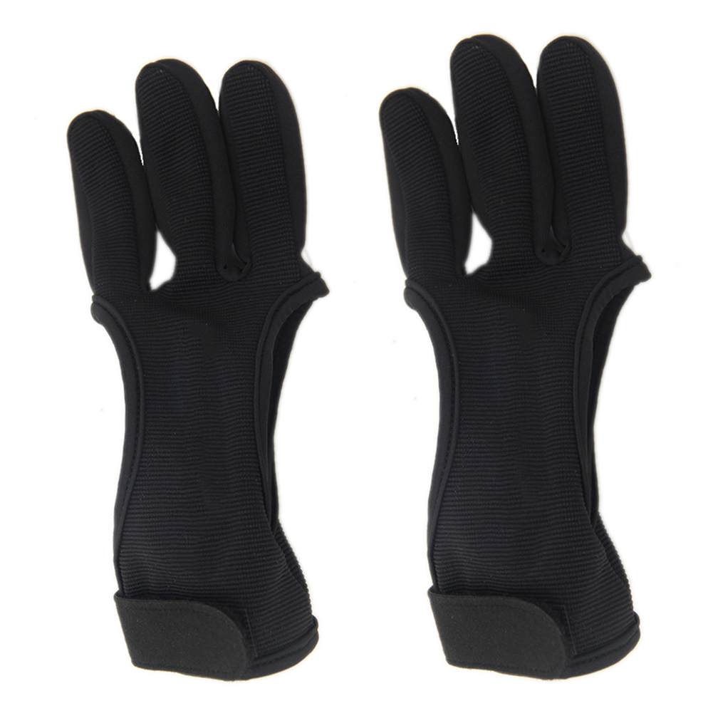 Three Finger Archery Protector Bow Shooting Glove 5