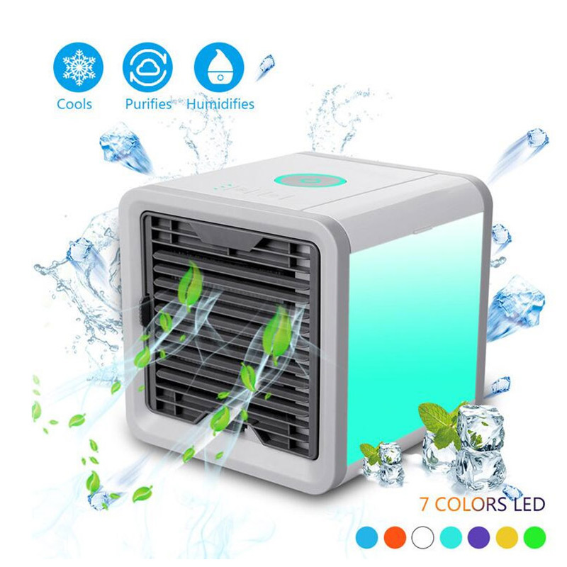 Convenient New Mini PortableAir Cooler Fan Portable Digital Air Conditioner Humidifier Space Easy Cool Purifies Big Wind Fan