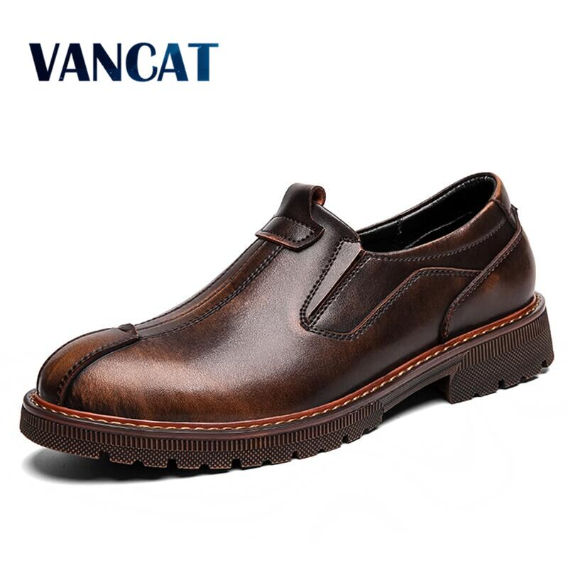Brand Breathable Men's Oxford Shoes Quality Dress Shoes Men Flats Fashion Leather Men's Shoes Casual Shoes Work Shoes Size 48