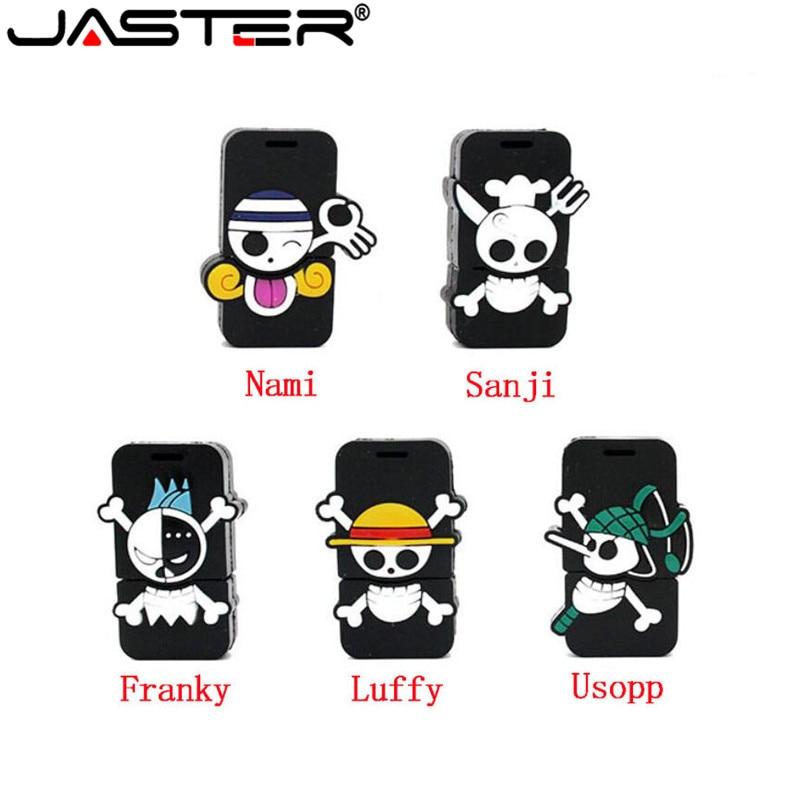 JASTER Cool Luffy Usb Flash Drive Pen Drive 4gb 16gb 32gb 64gb Pendrive New Style Cartoon ONE PIECE Pendrive Usb2.0 Memory Stick