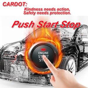 Image 4 - Cardot meilleur système dentrée sans clé passif bouton poussoir démarrage arrêt moteur à distance démarrage alarme de voiture intelligente