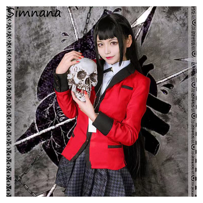 Anime Kakegurui Yumeko Jabami Cosplay Costume Japanese High School Girls Uniform Full Set For Gifts