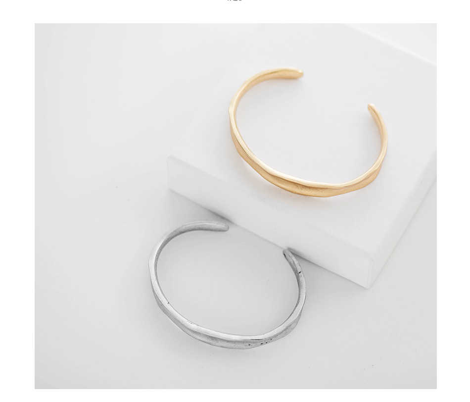 Fever & Free superventas, accesorios de Brazalete, Brazalete abierto de oro para mujeres y hombres, Brazalete coreano de amor para pareja, regalo pulsera de fiesta