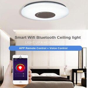 Image 2 - Smart Wifi Modern LED Ceiling Light Home Lighing 36W APP Bluetooth Music Ceiling Light Bedroom Lamps Smart Ceiling Lamp