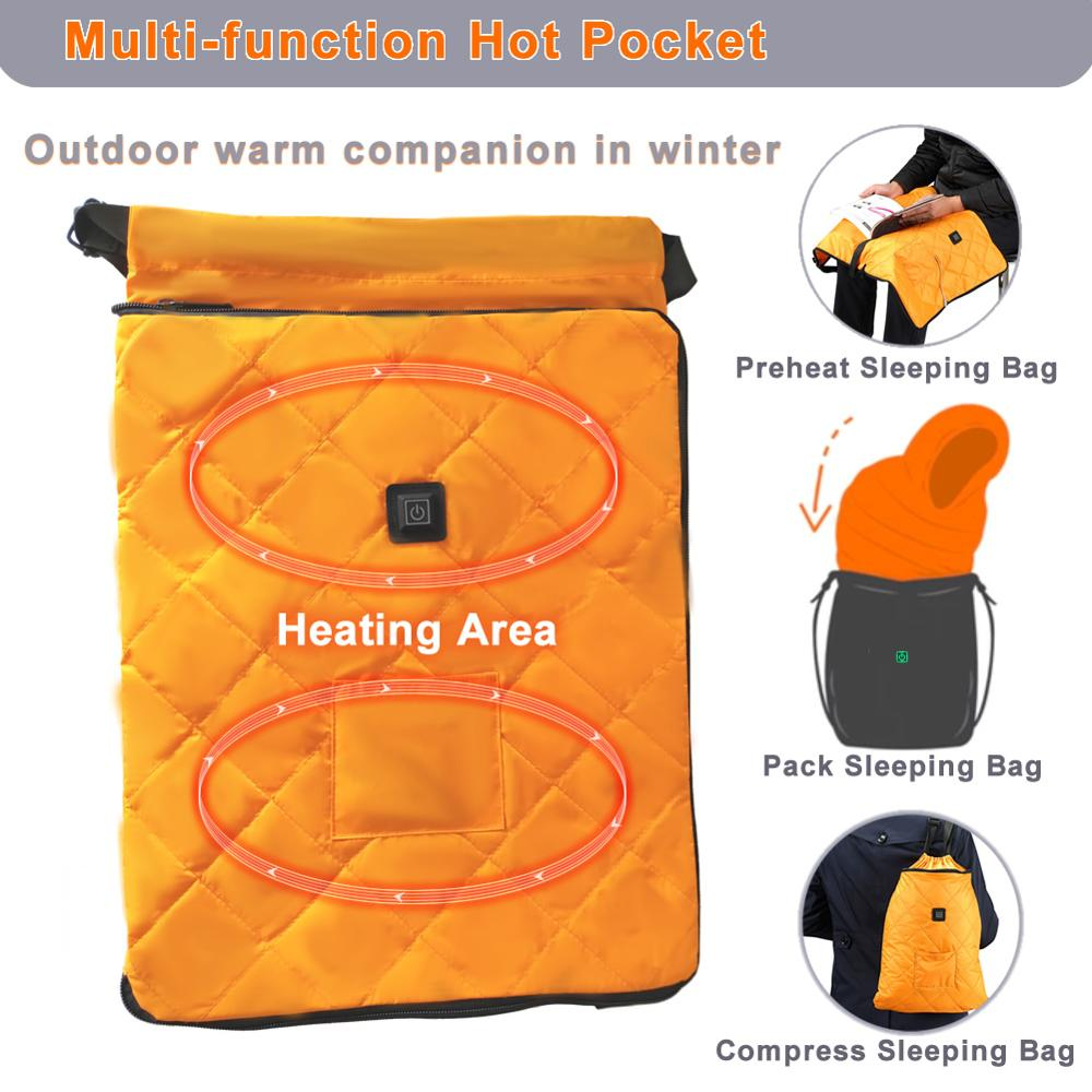 Hot Pocket Outdoor The World's First Heated Stuff Sack Compress Sleeping Ligtweight Waterproof Bag For Traveling,Camping,hiking