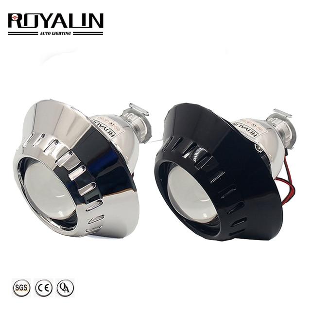 ROYALIN Bi Xenon Car Mini Projector H1 Lens w/ E46 R Shrouds for BMW M3 E90/E91/E92/E93 ZKW E46 External Retrofit headlights