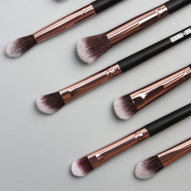 12pcs EyeMakeup Brushes Set Eyeshadow Brush Eyebrow Comb Brush  Eyelash Bevel Eyeliner Smudge Brush Hot ! 2