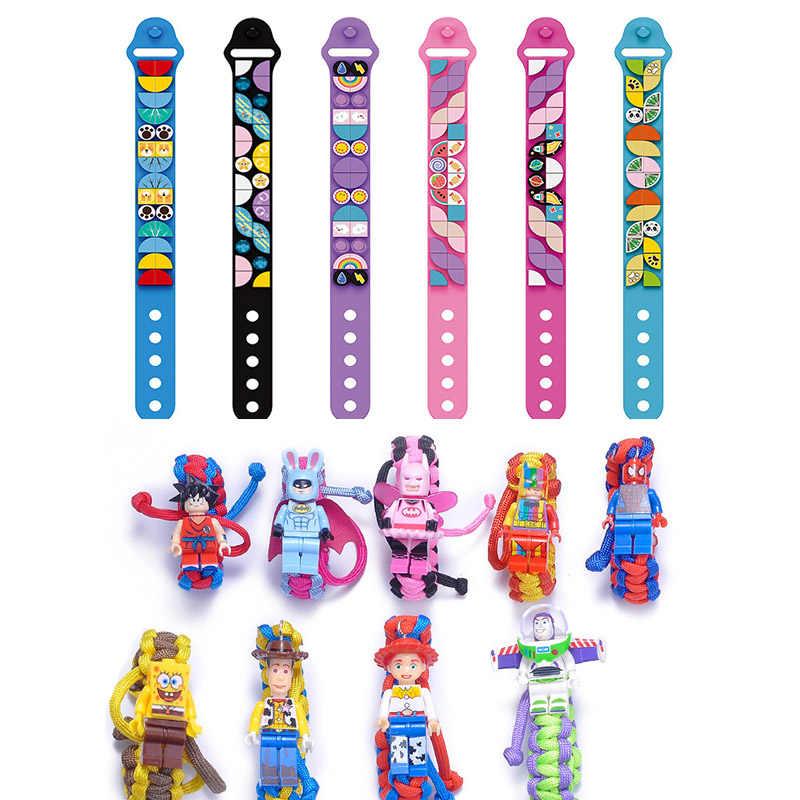 Bambini Blocco Wristband Del Braccialetto Building Block Giocattolo Zucchero Meteorologico Bracciale Per Bambini Amico Per Legoinglys Conoscenza Delle Ragazze