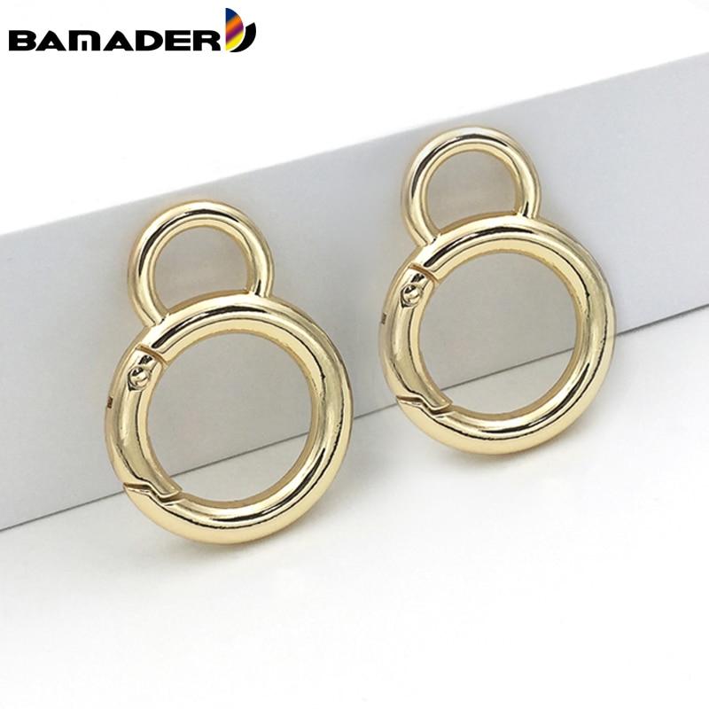 BAMADER Metal Spring Gate O Ring Bag Strap Metal Hardware hook Openable Keyring high quality Snap Buckle Hooks DIY Accessories