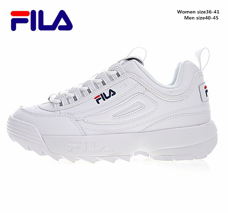 2018 Fila Disruptor II 2 Women Sneaker Running Shoes White-brown And White Summer Increased Outdoor Sneaker