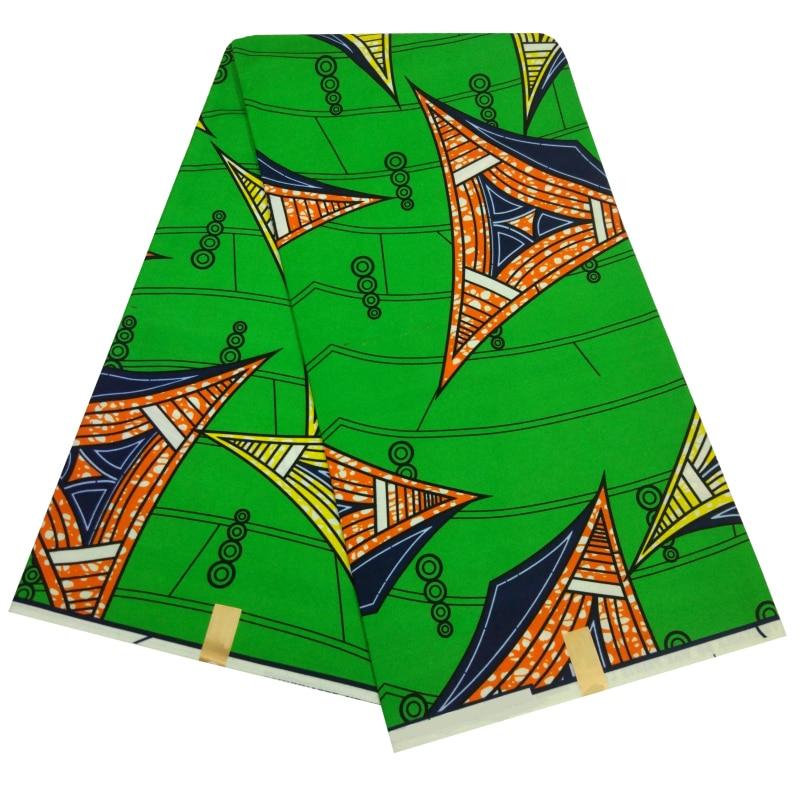 2019 New Design Dutch Wax Prints Nigeria Ankara Fabric 2019 Dutch Wax African Fabric Tela Estampadas Verdes 6Yards