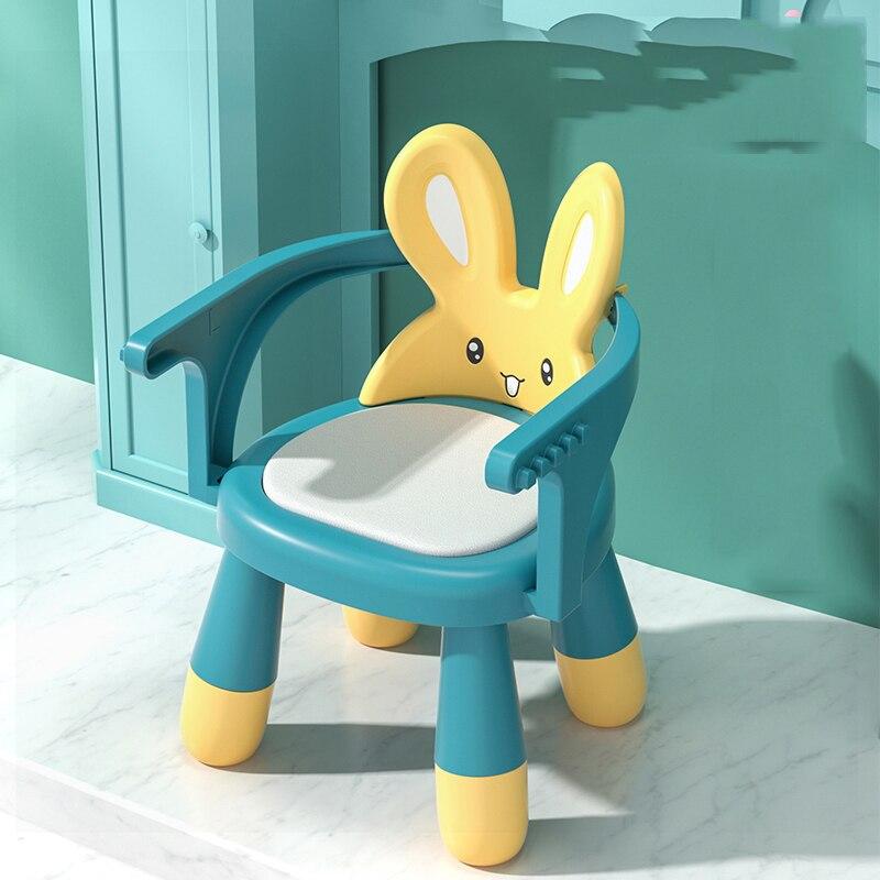 Non-Slip Children Plastic Chairs растущий стул для детей Cut Rabbit Poltrona Bambini Child Removable Dining стул