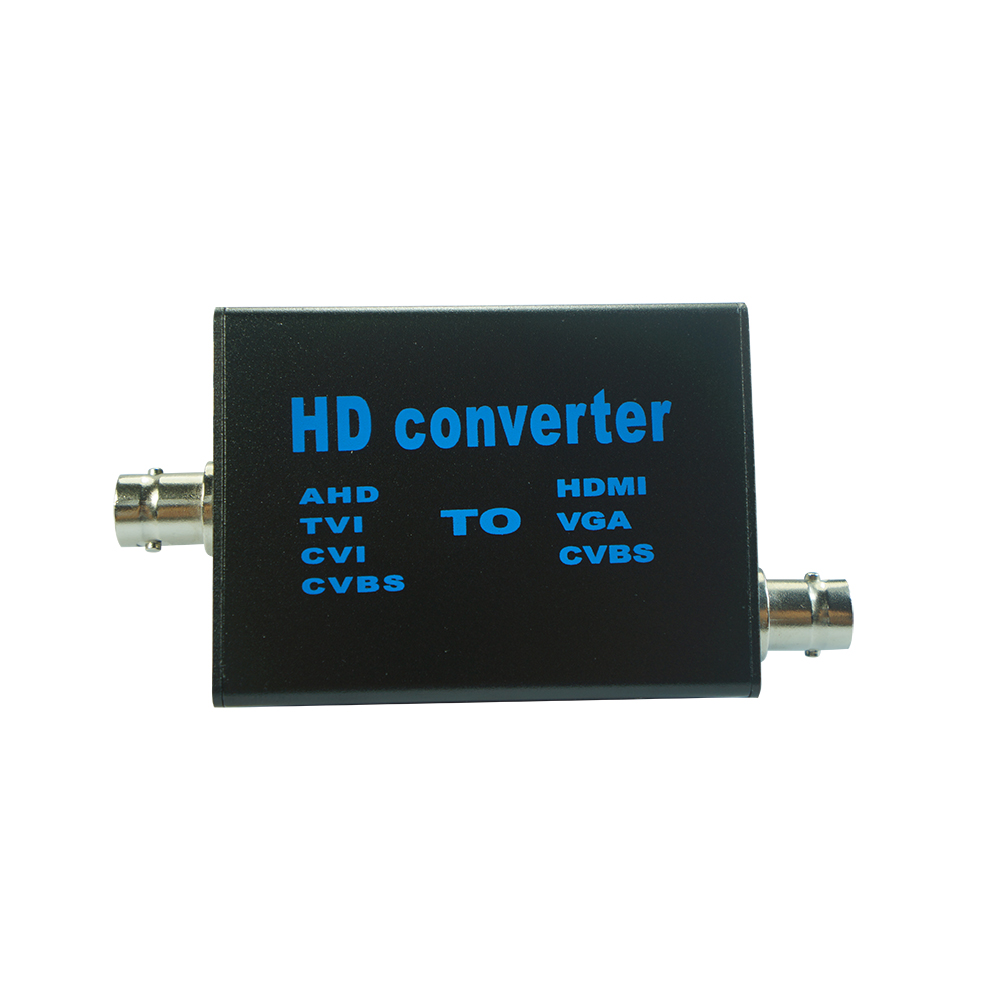 Video Signal Converter, AHD To HDMI, AV To VGA, TVI To CVBS Video Converter