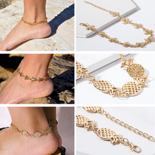 Ingemark Bohemian Turtle Chain Anklet for Women 2019 Summer Beach Vintage Pineapple Alloy Anklet Bracelet on Leg Foot Jewelry(China)