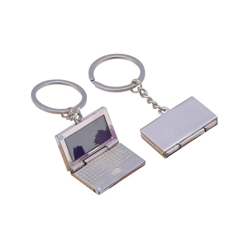Creative Mini Metal Laptop Keychain Personality Simulation Laptop Notebook Computer Custom Logo Name Telephone Number Keyring