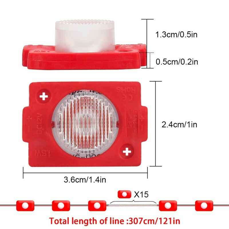20 шт. Светодиодный модуль рекламный свет 3030 SMD 2W водонепроницаемый супер яркий светодиодный светящиеся Подвески наружный белый светодиодный свет