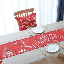 Новогоднее украшение столбец s Рождественская Декоративная скатерть