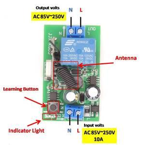 Image 2 - 433MHz العالمي لاسلكي للتحكم عن بعد التبديل التيار المتناوب 85 فولت 250 فولت 3 العصابات rf وحدة الاستقبال التتابع مع جهاز إرسال بسلسلة مفتاح للضوء